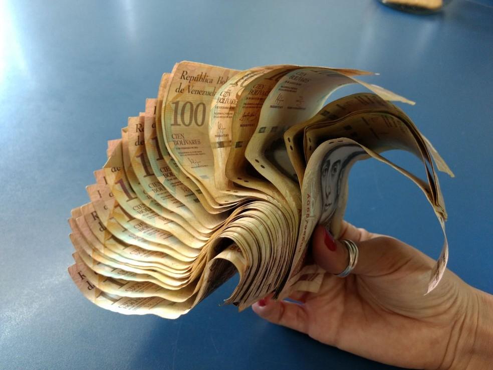 Quantia encontrada por catador em saco de lixo de Brasília (Foto: Arquivo pessoal)