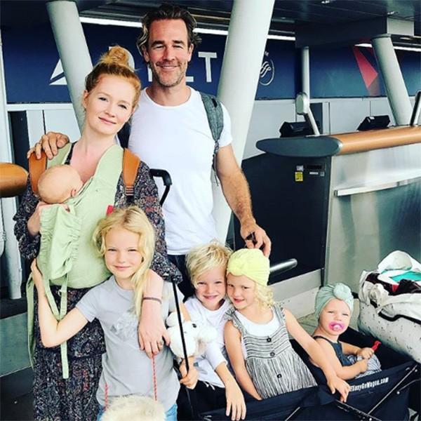 James Van Der Beek, a esposa Kimberly e os filhos (Foto: Instagram)