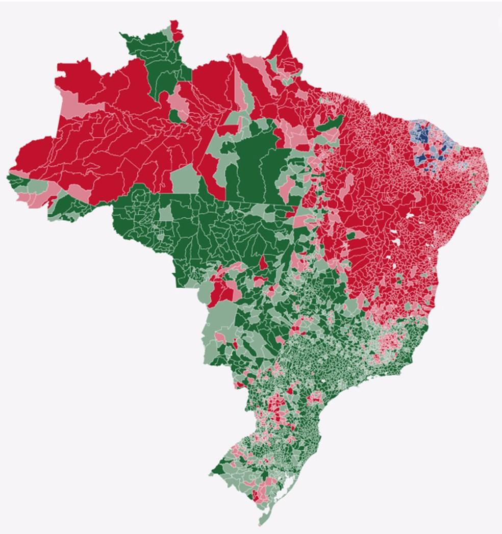 mapa votação por cidades — Foto: Arte G1