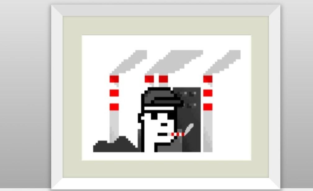 Imagem digital falsamente atribuída ao artista Bansky foi leiloada em golpe por R$1,7 milhão — Foto: Reprodução