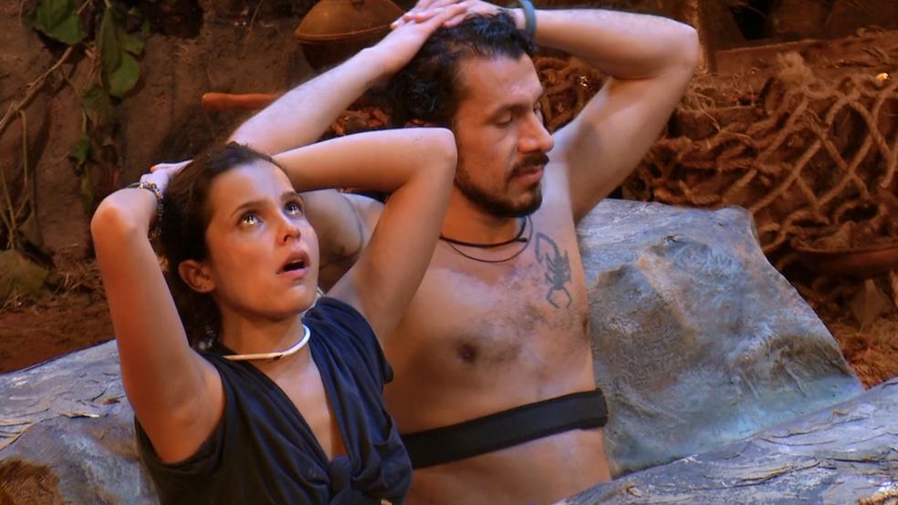 Emilly e Rômulo aguentaram 19 horas no BBB17 (Foto: TV Globo)