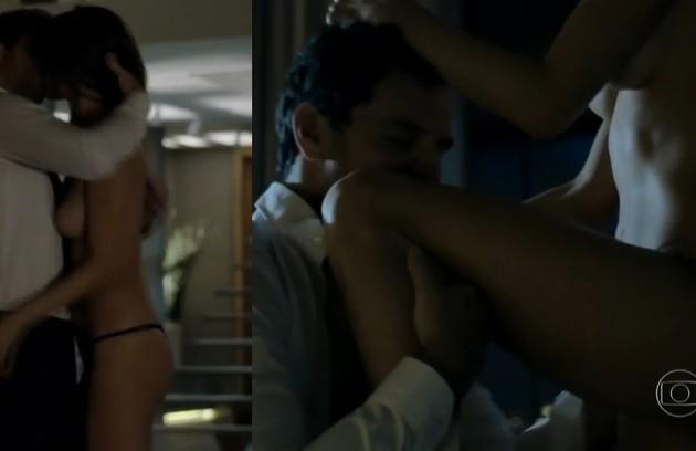 Rodrigo e Alessandra Ambrósio protagonizaram cenas quentes já na estreia da novela (Foto: Reprodução)
