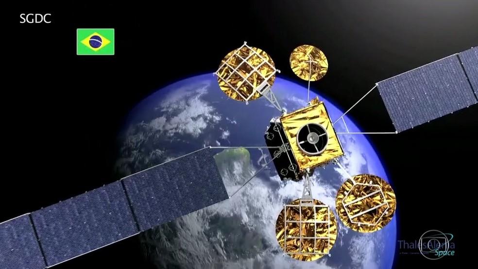 Satélite que permitirá acesso à banda larga em áreas remotas (Foto: Reprodução/ TV Globo)