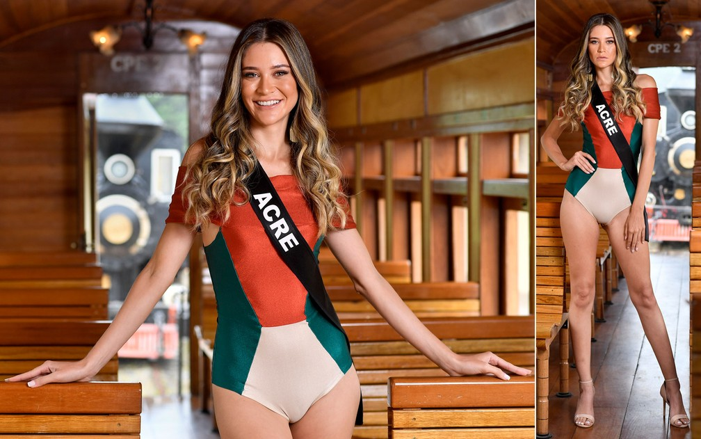 Sayonara Moura, de 25 anos, enfermeira, é a Miss Acre — Foto: Rodrigo Trevisan/Divulgação/Miss Brasil