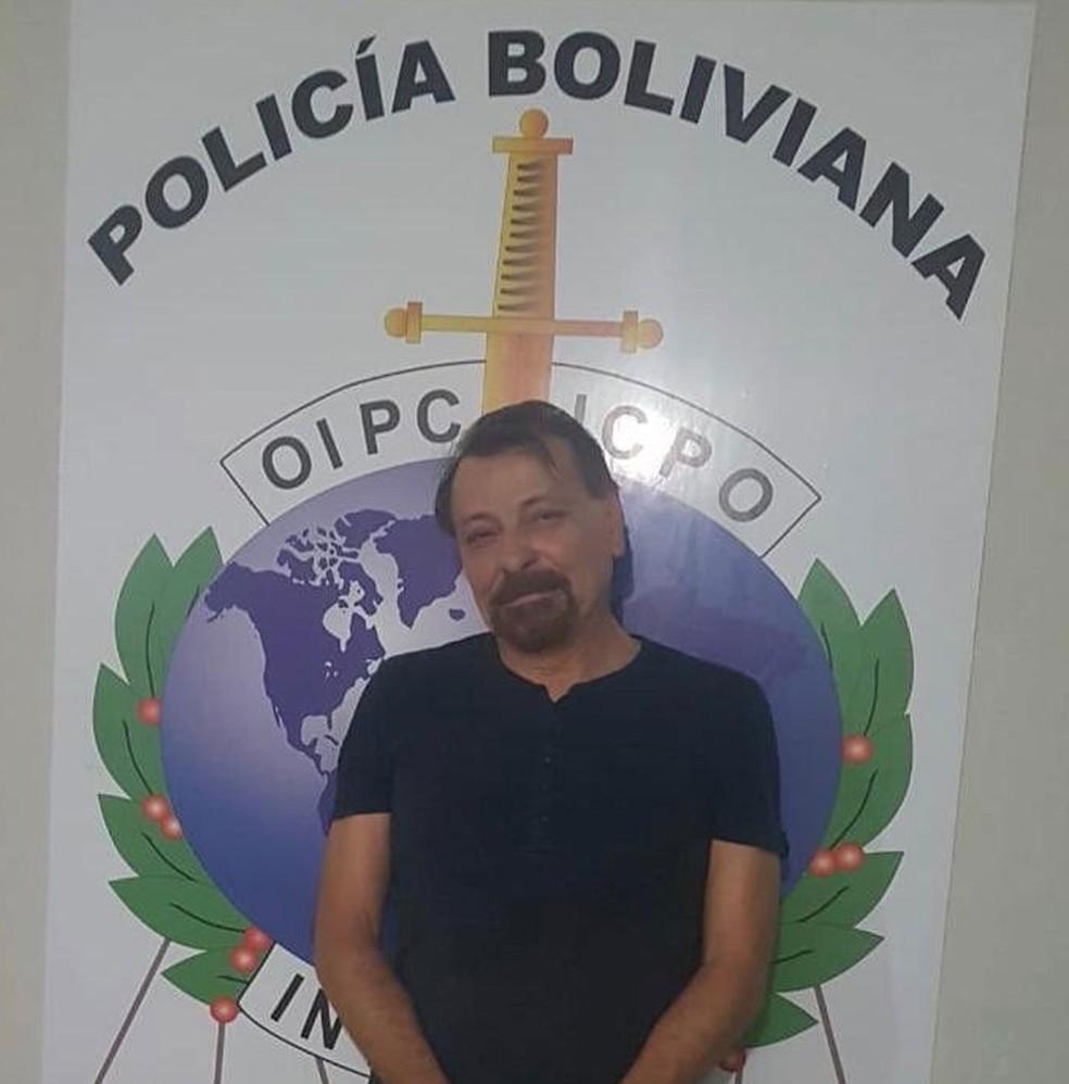 Cesare Battisti é preso na Bolívia — Foto: Polizia di Stato/Reprodução