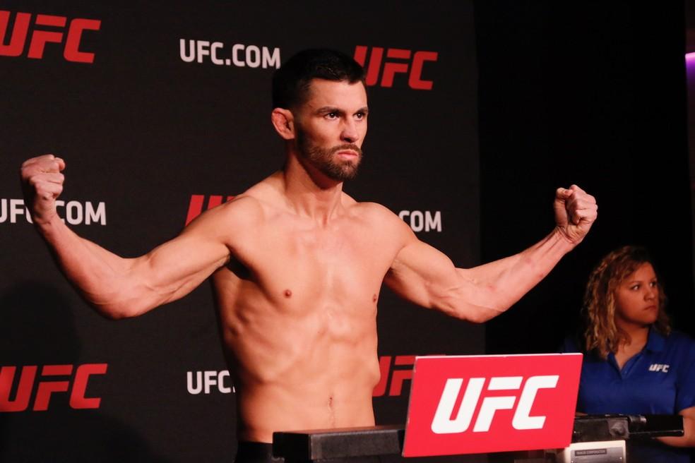 Dominick Cruz disputa o título dos galos contra Henry Cejudo no UFC 249 — Foto: Evelyn Rodrigues