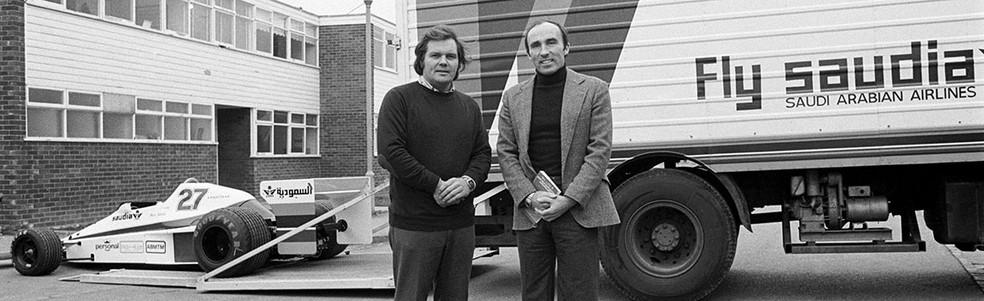 Frank Williams e Patrick Head fundaram equipe em 1977 — Foto: Reprodução