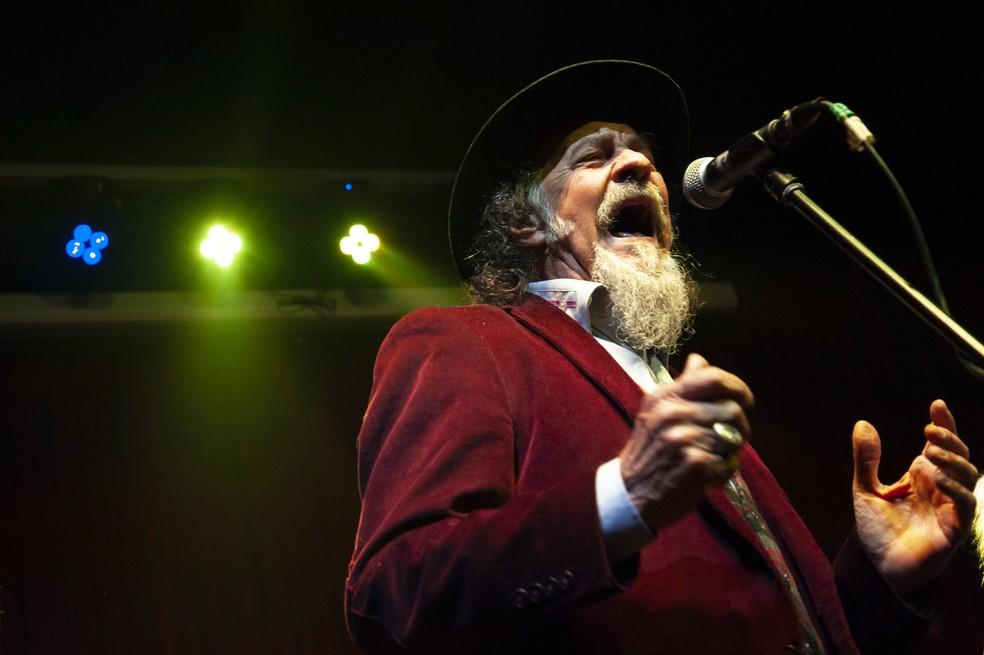 João Lopes participou do lançamento do CD da banda Carne de Onça, em 26 de julho de 2019, no Jokers Pub — Foto: Fabiano Ferreira/Divulgação