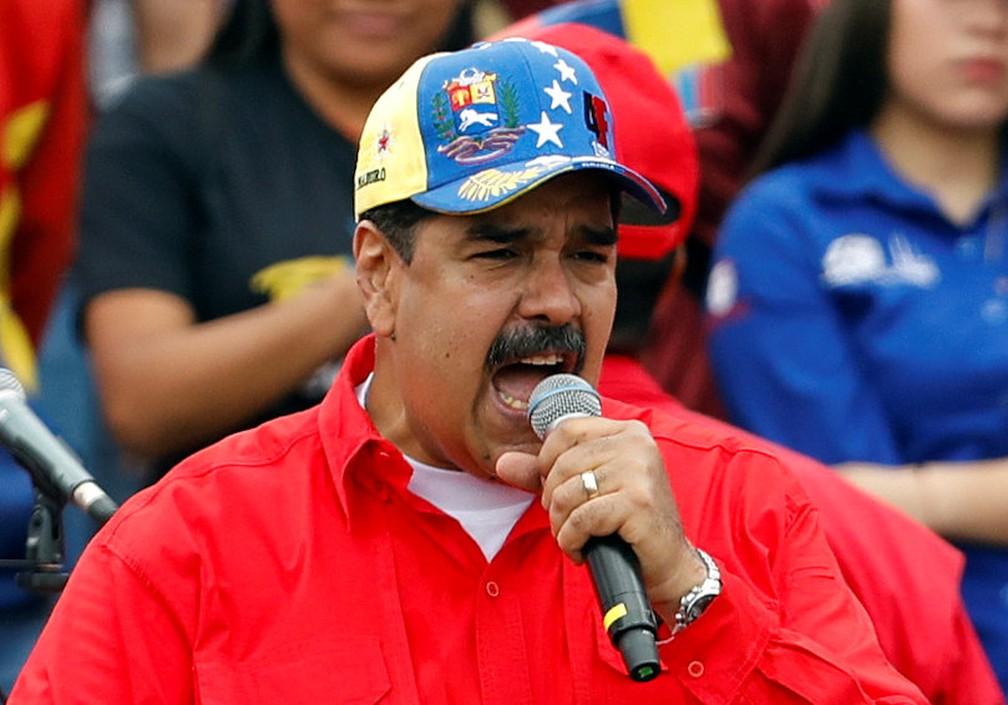 Maduro anunciou reforços na Forças Armadas — Foto: Reuters