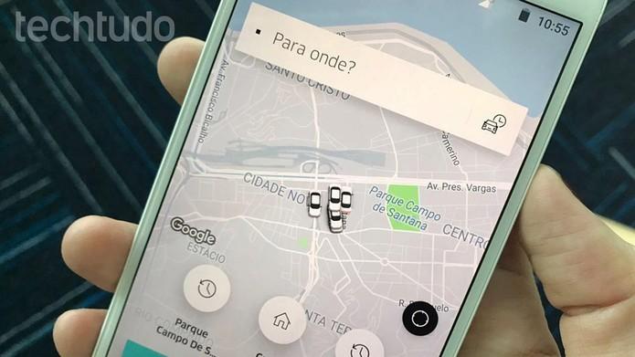 Tutorial ensina como compartilhar corrida do Uber (Foto: Carolina Ochsendorf/TechTudo)