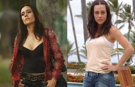 """Em """"Paraíso tropical"""" (2007), novela de Gilberto Braga e Ricardo Linhares, Alessandra Negrini deu vida às irmãs Paula e Taís, que tinham perfis completamente opostos TV Globo"""