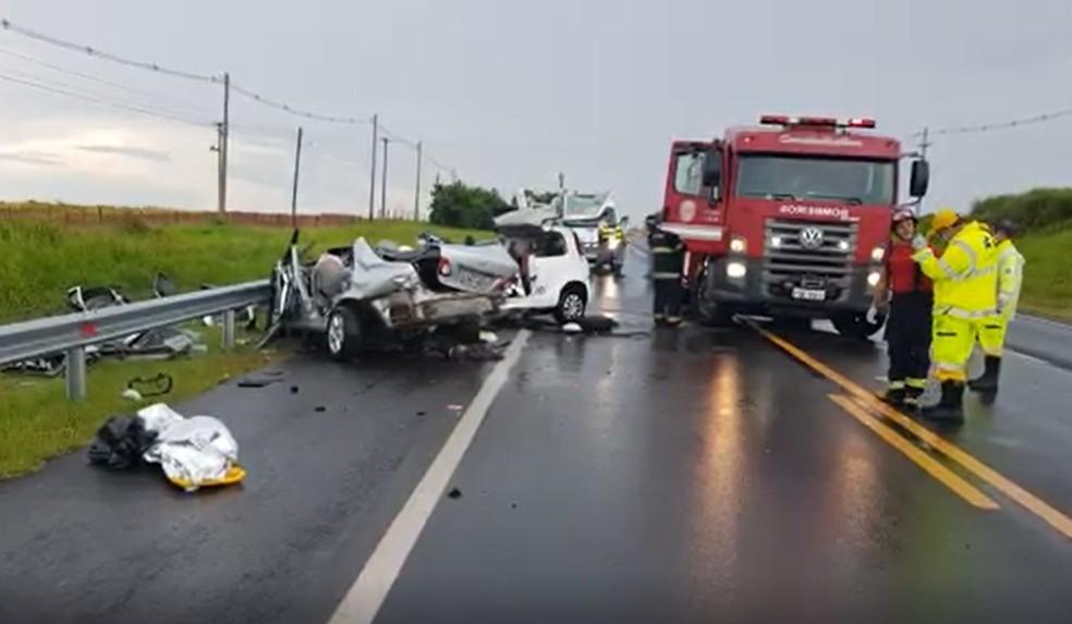 Acidente aconteceu no último dia 13 em Marília — Foto: Alcyr Netto/TV TEM