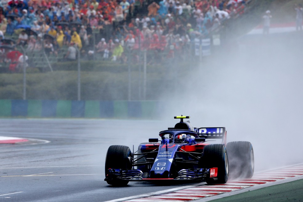 Gasly acelera STR-Honda na chuva em Hungaroring (Foto: Getty Images)