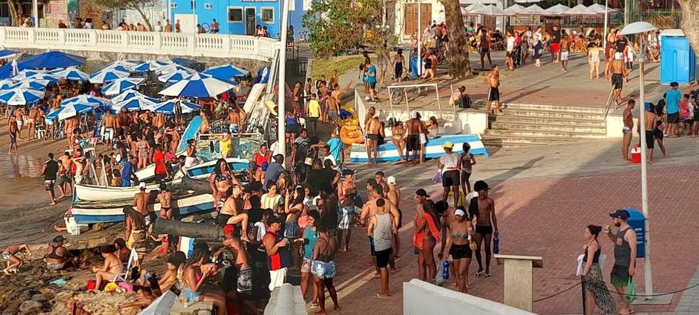 Orla da Barra, em Salvador — Foto: Thiago Lordelo/Arquivo pessoal