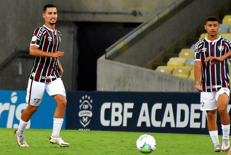 Martinelli e André havia jogado só uma vez juntos como titulares — Foto: Mailson Santana / Fluminense FC