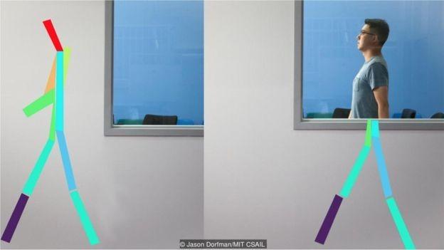Sinais sem fio que ultrapassam as paredes são usados para monitorar a postura do paciente, respiração e até o sono para detectar os primeiros sinais de doença (Foto: JASON DORFMAN/MIT CSAIL via BBC News Brasil)