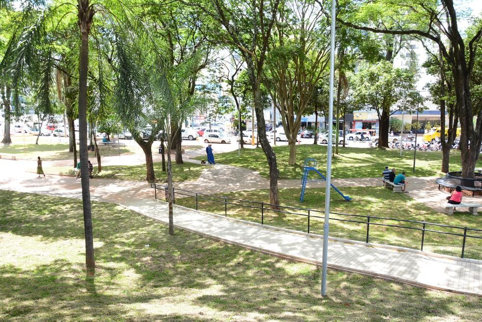 Praça da Bandeira, em Presidente Prudente, será reinaugurada nesta quarta-feira (12) — Foto: Marcos Sanches/Secom