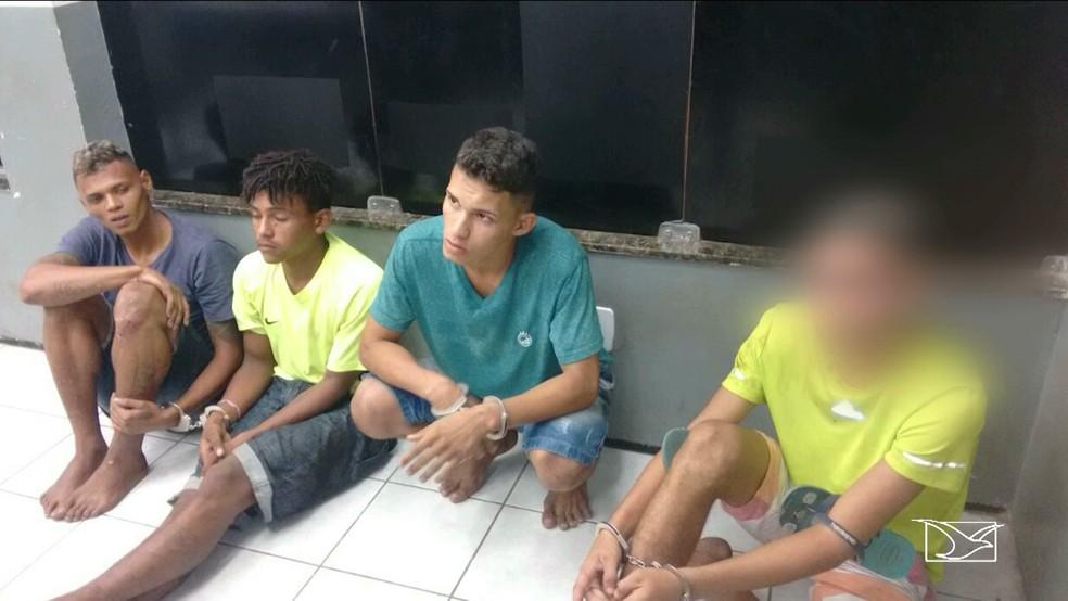 Grupo foi preso ao tentar realizar um assalto a residência em São Luís.  (Foto: Reprodução/TV Mirante)
