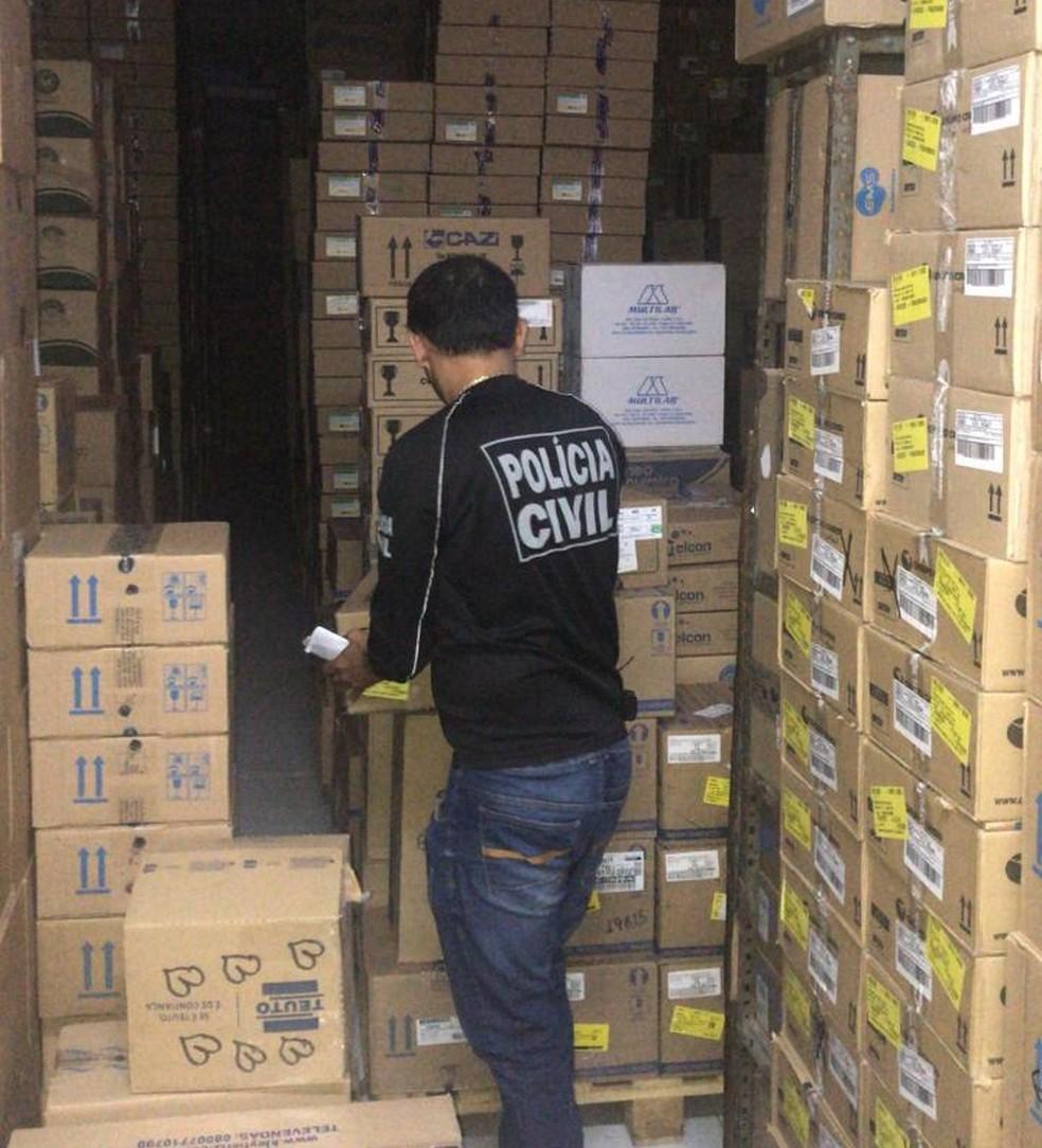 Suspeitos de furtar medicamentos são alvos de mandados no Ceará — Foto: Divulgação/PC