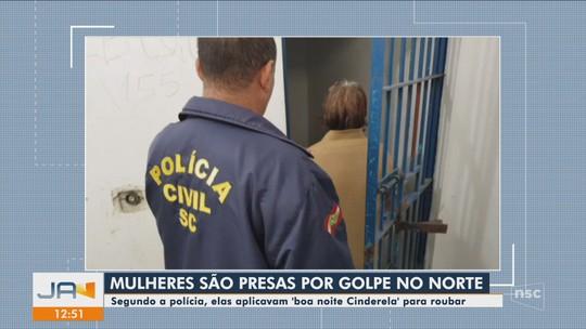 Mulheres são presas em SC suspeitas de aplicar o golpe do 'boa noite, Cinderela'