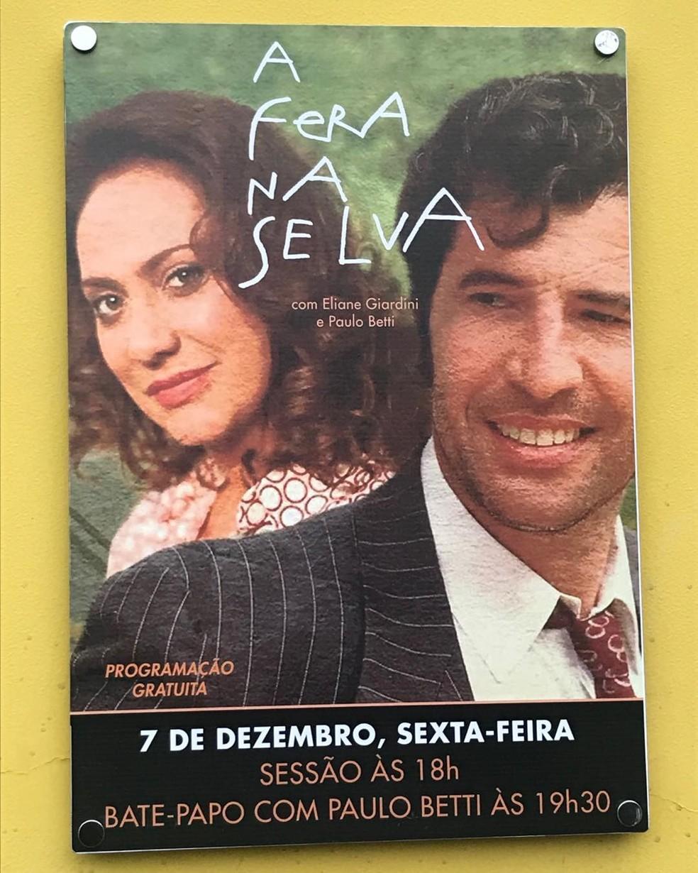 Os atores vivem um casal no filme 'A Fera na Selva' — Foto: Reprodução/Instagram
