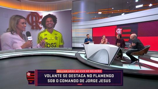 """Willian Arão destaca influência de Jorge Jesus em seu bom momento no Flamengo: """"Organizou tudo"""""""
