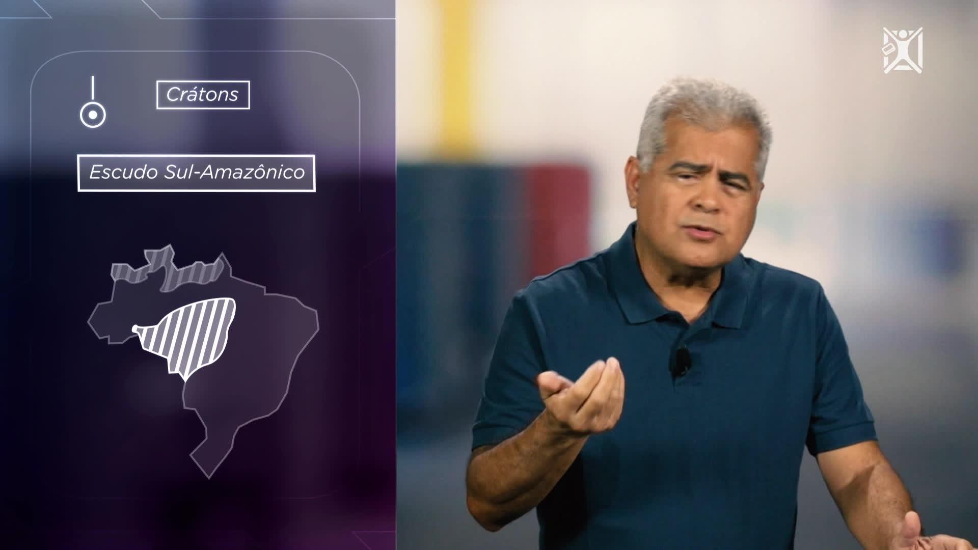Projeto Educação Estrutura Geológica Brasileira Formada Há
