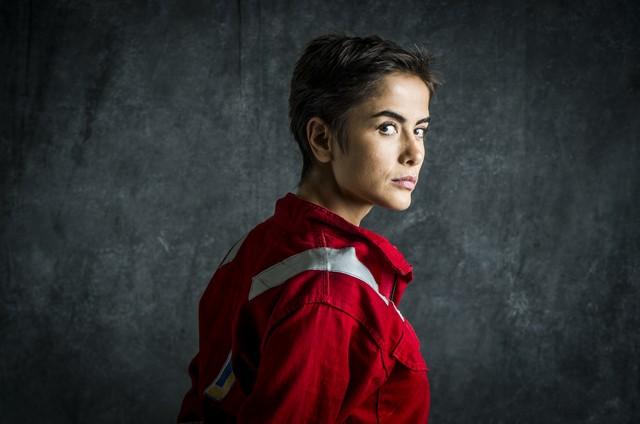 Maria Casadevall em 'Ilha de ferro' (Foto: Raquel Cunha)