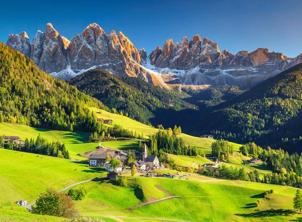 Santa Maddalena, na Itália (Foto: Shutterstock/ Reprodução)