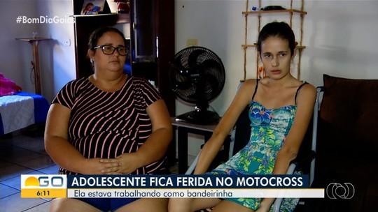 Adolescente fica em ferida após acidente de motocross em Morrinhos