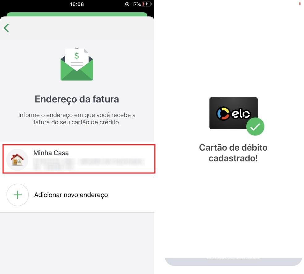 Concluindo o cadastro do cartão de débito virtual da Caixa no PicPay — Foto: Reprodução/Rodrigo Fernandes
