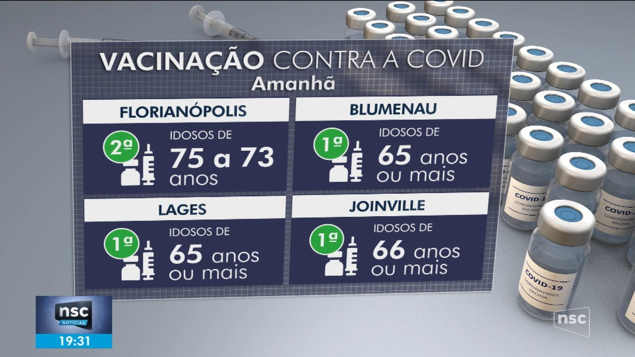 Cidades de SC têm vacinação contra a Covid-19 neste fim de semana