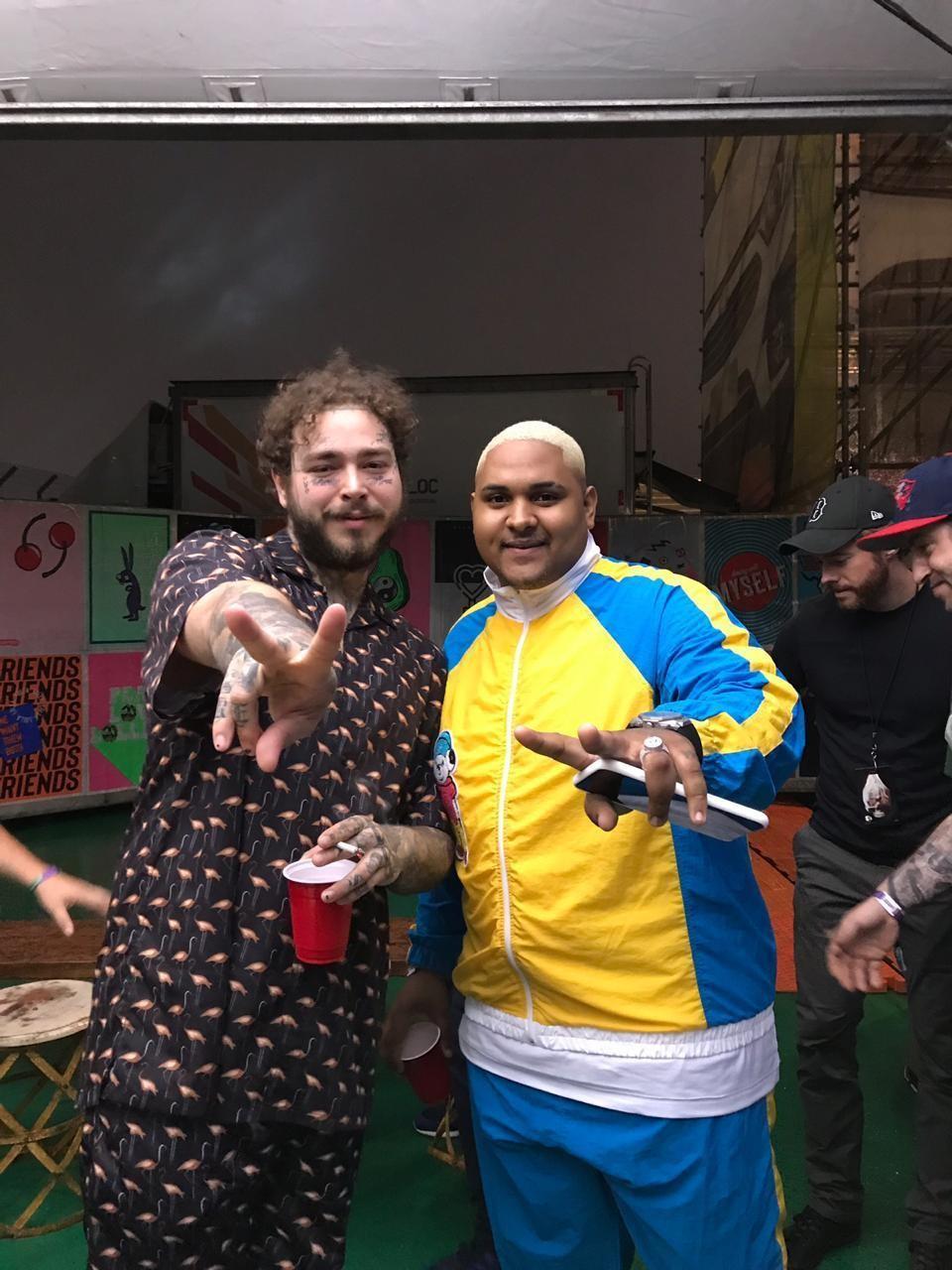 Post Malone e Kevin O Cris (Foto: Reprodução)