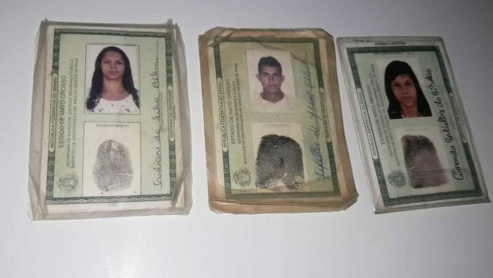 Polícia Militar divulgou fotos das vítimas: Cristiane, Jeffeter e Gabrielly — Foto: Polícia Militar de Mato Grosso/Assessoria