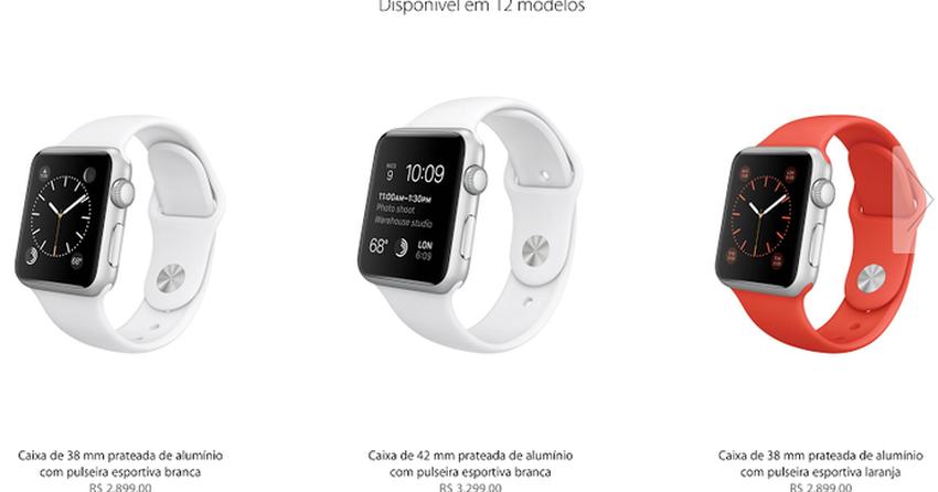 ca126c63efd Apple Watch tem lançamento no Brasil com preços estratosféricos ...