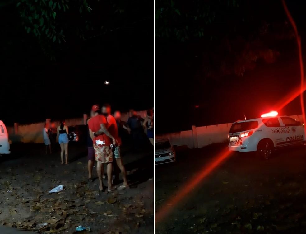 PM acompanhou ocorrências e registrou BO após flagrar aglomerações em Marília — Foto: Prefeitura de Marília/Divulgação