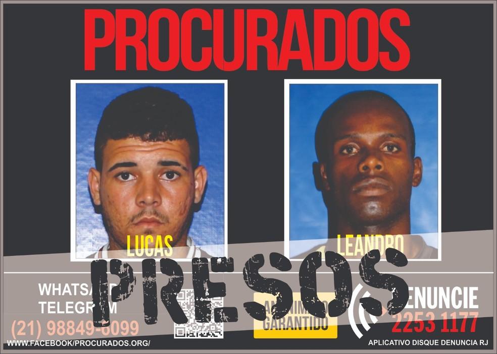Dois suspeitos de homicídio são presos em operação da SEAP em Campos, no RJ — Foto: Divulgação/134ª DP
