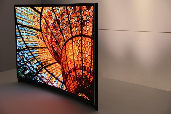 TV Samsung S9 com tela curvada foi apresentada em junho na CES 2013 (Foto: TechTudo/Fabrício Vitorino)