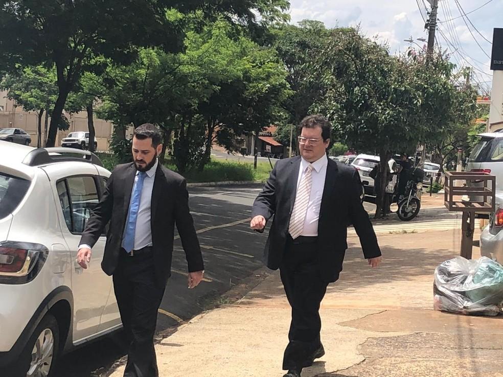Marcelo Henrique Morato Castilho prestou depoimento à polícia em Rio Preto com a presença do advogado — Foto: Heloísa Casonato/G1/Arquivo