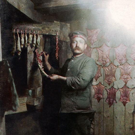 um soldado prussiano na Primeira Guerra Mundial (Foto: COLORIZADAS POR MARINA AMARAL)