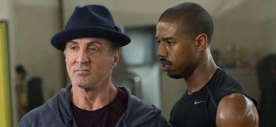 Sylvester Stallone e Michael B Jordan em cena de Creed II (Foto: divulgação)