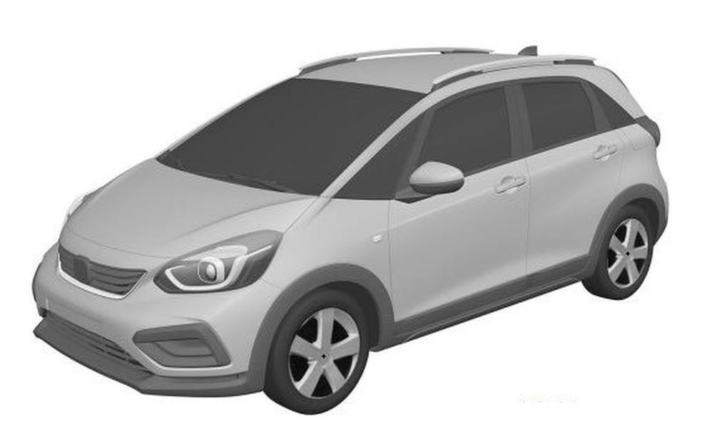 Novo Honda Fit é registrado no Brasil — Foto: Reprodução/INPI