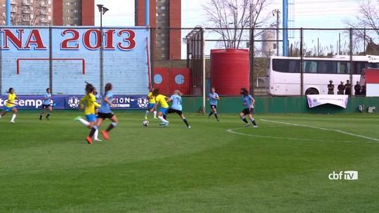 Seleção feminina sub-20 goleia o Uruguai por 6 a 1 na estreia do técnico Jonas Urias; veja os gols