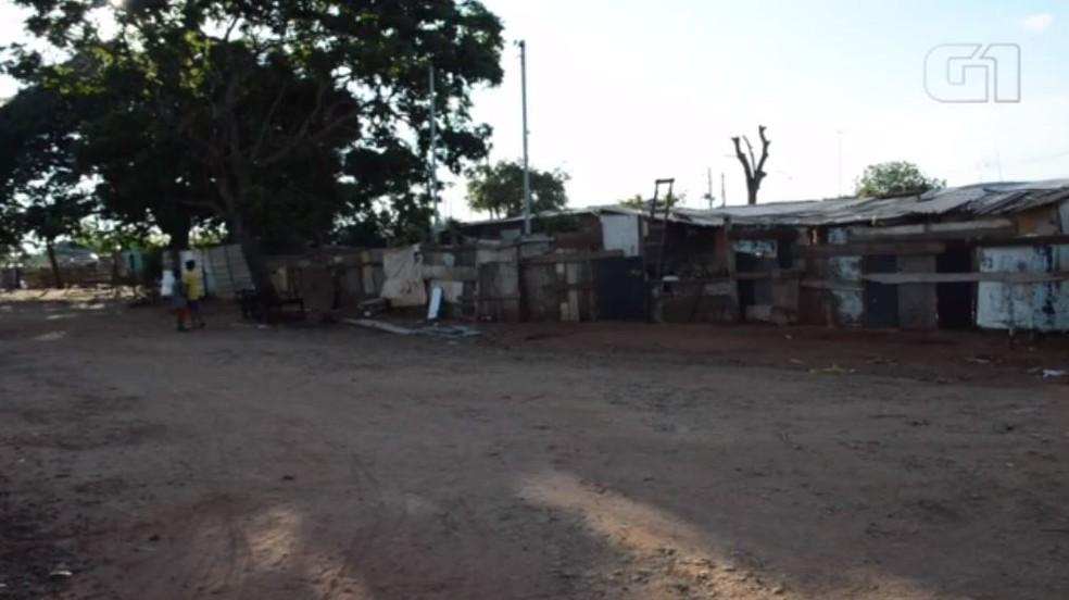 Aldeia urbana Água Bonita, em Campo Grande, onde vivem cerca de 192 famílias de cinco etnias indígenas e também não indígenas — Foto: Reprodução/G1 MS