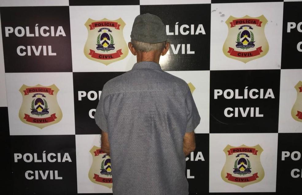 Idoso foi preso no Tocantins 26 anos após assassinato na Bahia — Foto: Divulgação/Polícia Civil