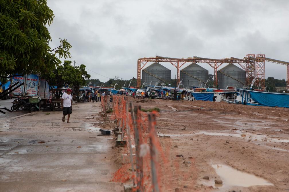 Santarém é um dos centros para saída da soja no Pará — Foto: Marcelo Brandt/G1