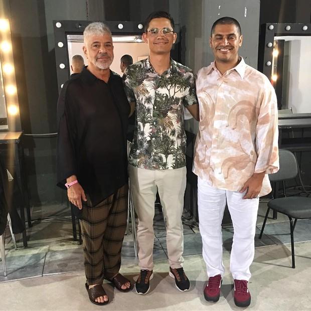 Lulu Santos, Clebson Teixeira e Criolo (Foto: Reprodução/Instagram)