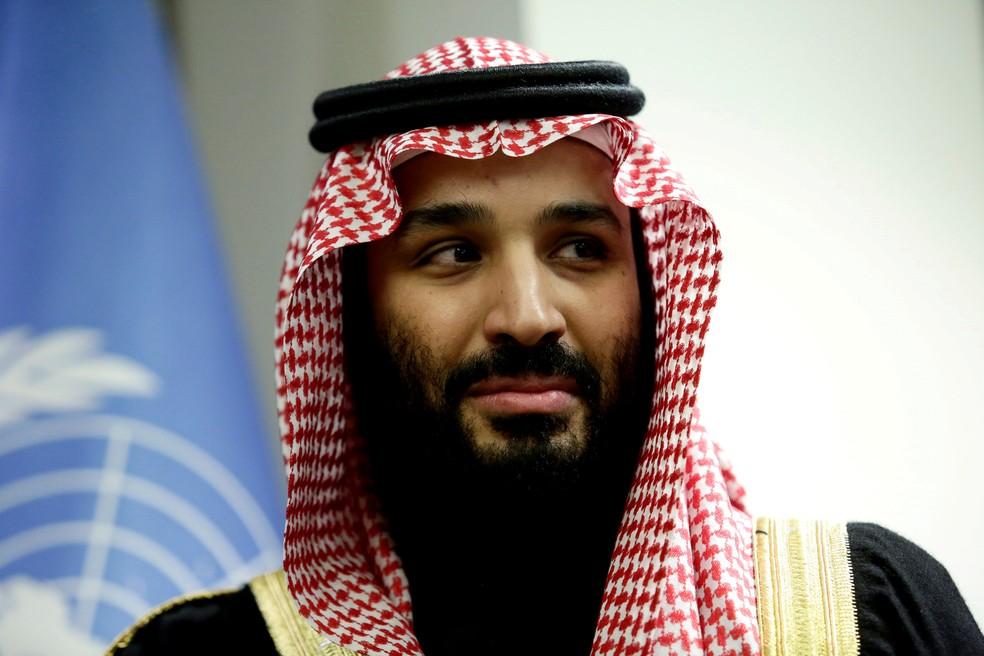 bb0682a391763 ... Foto de arquivo mostra o príncipe saudita Mohammed bin Salman durante  reunião com o secretário-