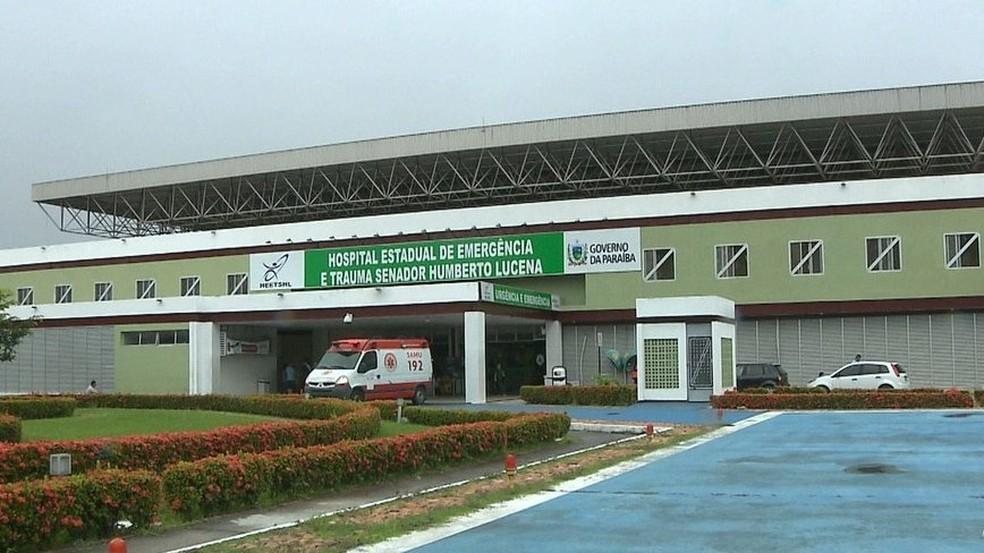Hospital de Emergência e Trauma de João Pessoa — Foto: Reprodução/TV Cabo Branco