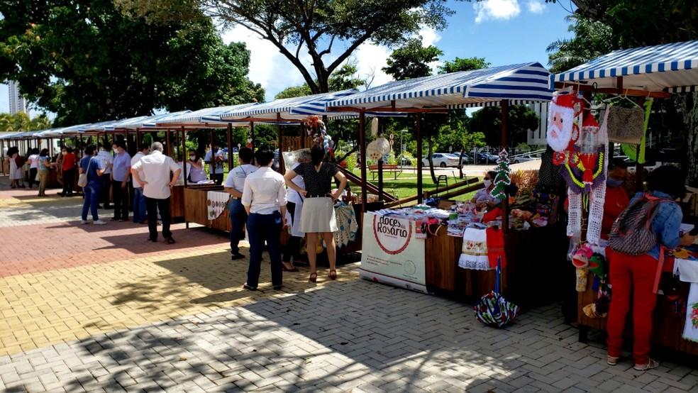 Feira do Centro Administrativo - Agricultura Familiar e Economia Solidária é retomada em Natal — Foto: Assecom/Governo Cidadão